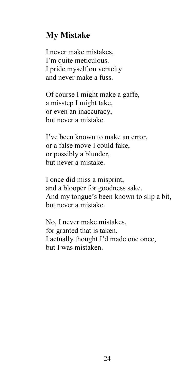 Page 24 sample from Some Poems About Life