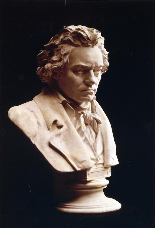 UNSPECIFIED - CIRCA 1754: Portrait bust of Ludwig van Beethoven (1770-1827), German composer and pianist. One of the most influential western composers whose music bridged the Classical and Romantic periods. Musician (Photo by Universal History Archive/Getty Images)
